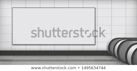 blank advertising billboard at subway station vector template stock photo © tuulijumala