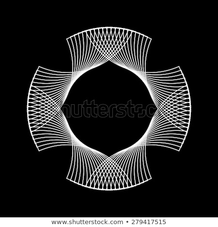 Witte abstract fractal vorm technologie zwarte Stockfoto © molaruso