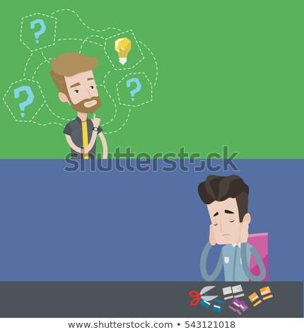 Cartoon · кредитных · карт · характер · иллюстрация · счастливым · смешные - Сток-фото © rastudio