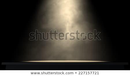 Fase spotlight donkere licht concert show Stockfoto © albund