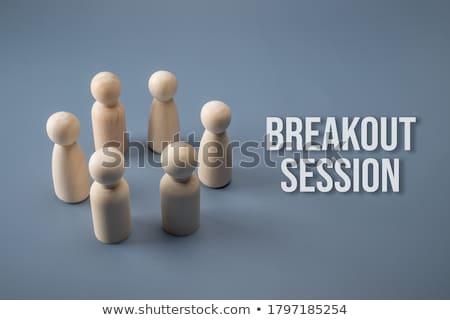 Absztrakt ötlet személy áll sötét szoba Stock fotó © psychoshadow