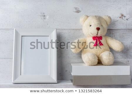 Rectangular vertical white shelf Stock photo © romvo