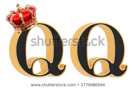gemstones alphabet letter a isolated on white background stock photo © pashabo