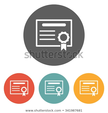 security certificates icon flat design stock photo © wad