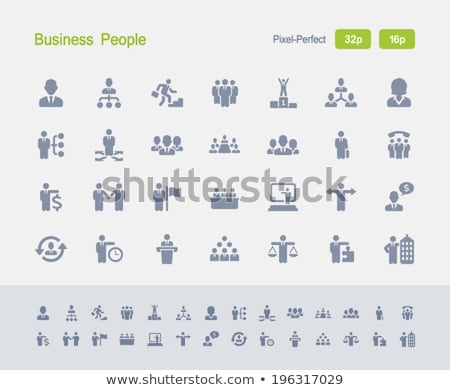 business people   granite icons stock photo © micromaniac
