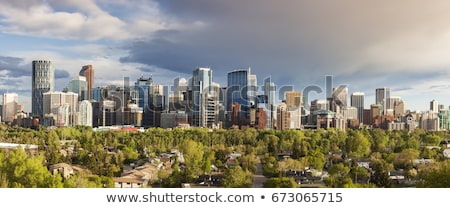 Calgary panorama stad hemel kantoor gebouw Stockfoto © benkrut