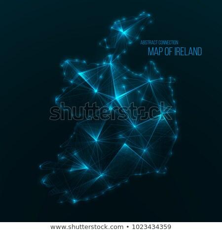 Dünya haritası nokta güney amerika global ağ bağlantı Stok fotoğraf © pikepicture