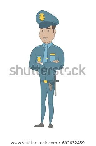Spanyol rendőr áll összehajtva karok mosolyog Stock fotó © RAStudio