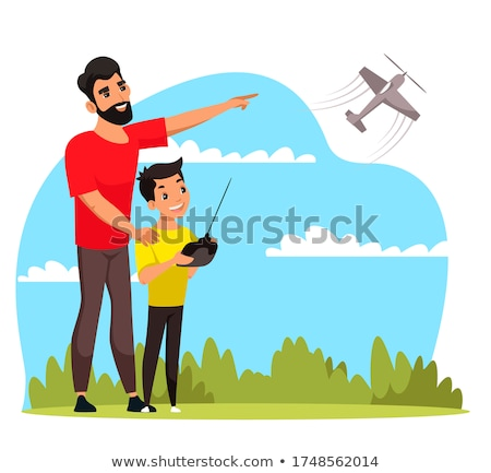 Men with remote-controlled plane Stock photo © IS2