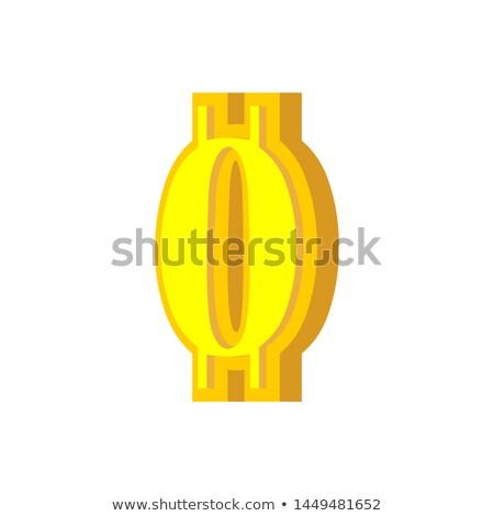 Cijfer bitcoin doopvont nul numeriek valuta Stockfoto © popaukropa