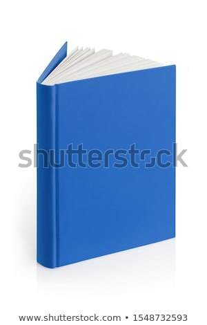 Open hardcover book with blue cover Stock photo © orensila