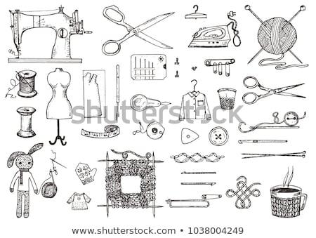 ミシン · デザイン · 要素 · 実例 · 異なる · 抽象的な - ストックフォト © lenm