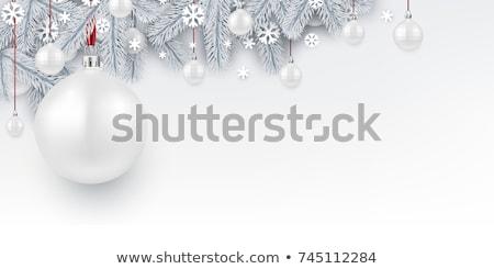 örnek beyaz Noel ladin şube siluet Stok fotoğraf © Sonya_illustrations