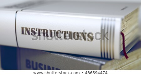 Boek titel instructies 3D business wervelkolom Stockfoto © tashatuvango