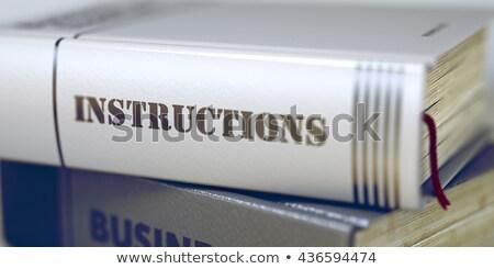 Livro título instruções 3D negócio coluna Foto stock © tashatuvango