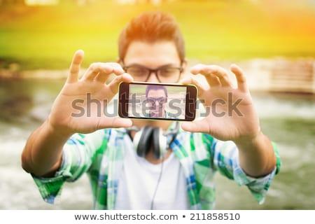 Ao ar livre tiro moço inteligente Foto stock © 2Design