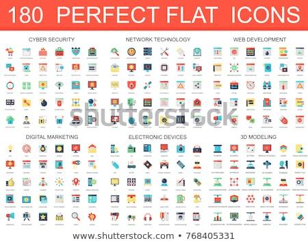Set of flat icon locks, vector illustration. Сток-фото © kup1984