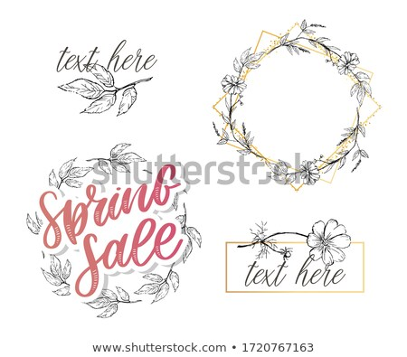Vector spring lettering flyer made from fresh green leafs Stock photo © orson