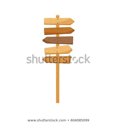 retro arrow direction signs in flat style stock photo © studioworkstock