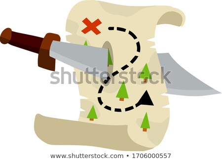 Pirate sabre isolated game element Stock photo © studioworkstock