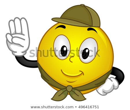 Smiley Boy Scout Pledge Stock photo © lenm