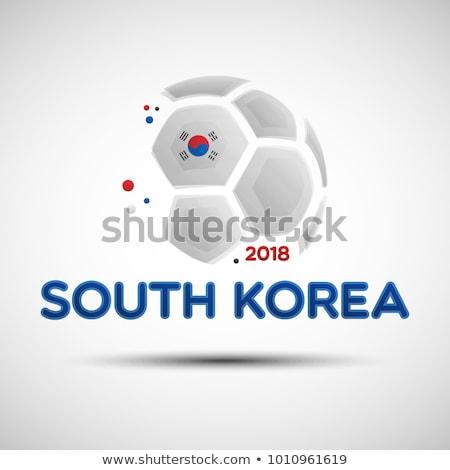 South Korean Flag Football - Soccer Ball Stock photo © nazlisart