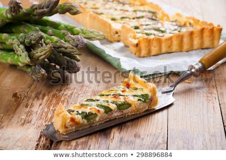 szalonna · spárga · fából · készült · étterem · vacsora · piros - stock fotó © melnyk