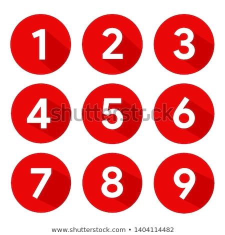 Сток-фото: четыре · вектора · Кнопки · номера · опции · шаблон