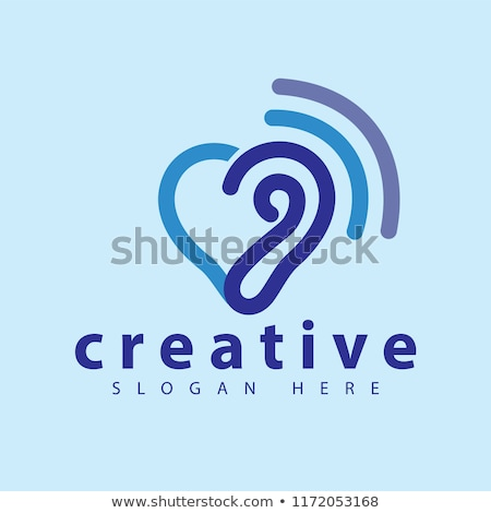 hearing logo template vector icon stock photo © atabik2