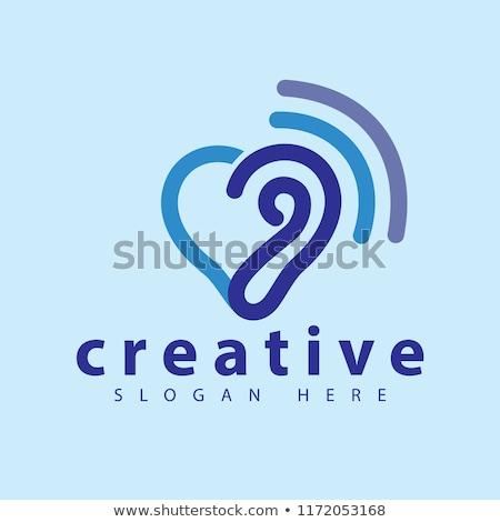 Logo sablon vektor ikon illusztráció terv Stock fotó © atabik2