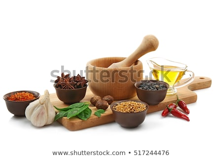 Composition of spices in bowls Stock photo © dash