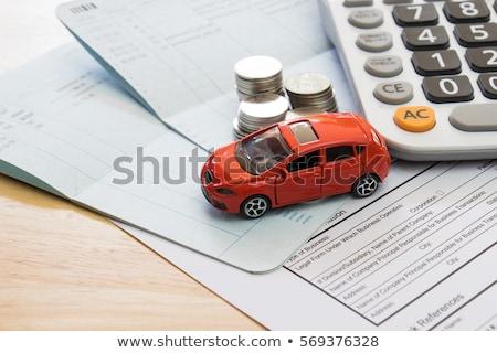 автомобилей страхования человека безопасности игрушку службе Сток-фото © sqback