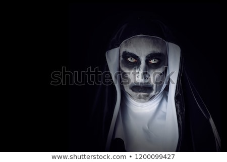 portrait of a frightening evil nun stock photo © nito