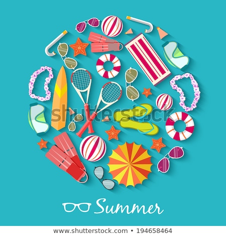 summer vecetion time background vector illustration concept stock photo © Linetale