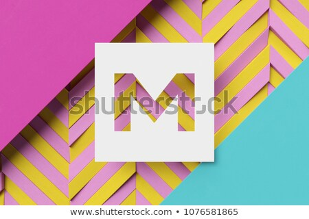 Black and white stripes Letter T 3D Stock photo © djmilic
