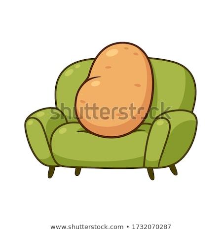 couch potato saying cartoon illustration Stock photo © izakowski