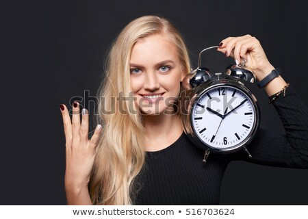 young girl holding number four stock photo © bluering