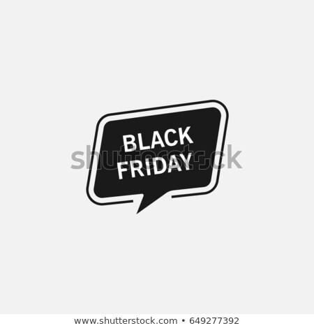 Streszczenie black friday sprzedaży czat bańki plakat projektu Zdjęcia stock © SArts