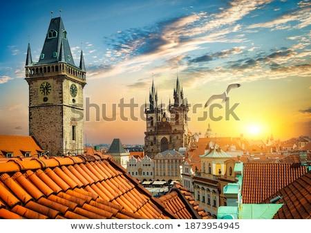 vecchio · cattedrale · Praga · Repubblica · Ceca · cielo · primavera - foto d'archivio © givaga