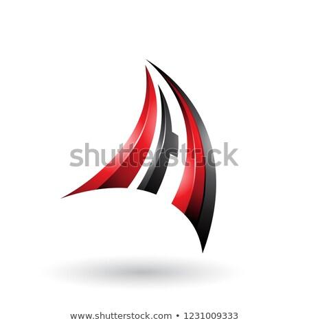 Czerwony czarny 3D dynamiczny pływające list Zdjęcia stock © cidepix