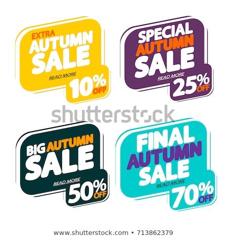 Promo templates conjunto especial outono Foto stock © robuart