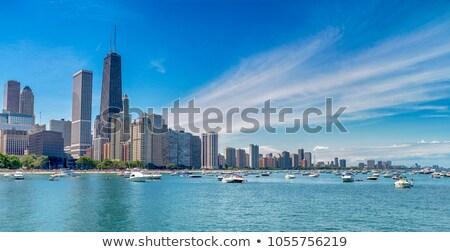 Edifícios blue sky Chicago ver EUA viajar Foto stock © vwalakte