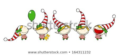 Cartoon Angry Xmas Elf Bear Stock photo © cthoman
