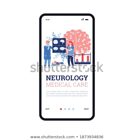 Alzheimer disease app interface template. Stock photo © RAStudio
