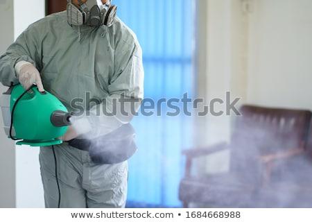 Spray produtos químicos ícone branco projeto garrafa Foto stock © smoki
