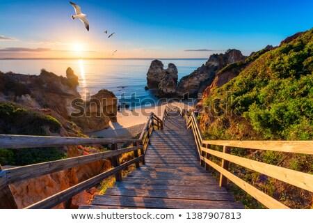 のどかな · ビーチ · 風景 · ポルトガル · 空 · 自然 - ストックフォト © homydesign