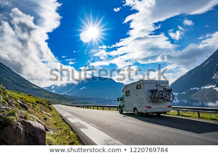 Family vacation travel, holiday trip in motorhome RV, caravan ca Stock photo © cookelma