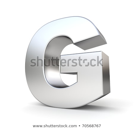 chrome font with colorful reflections letter g 3d stock photo © djmilic