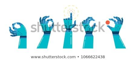 robot · hand · verandering · kans · zwarte - stockfoto © limbi007