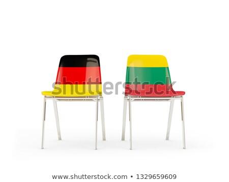 Twee stoelen vlaggen Duitsland Litouwen geïsoleerd Stockfoto © MikhailMishchenko